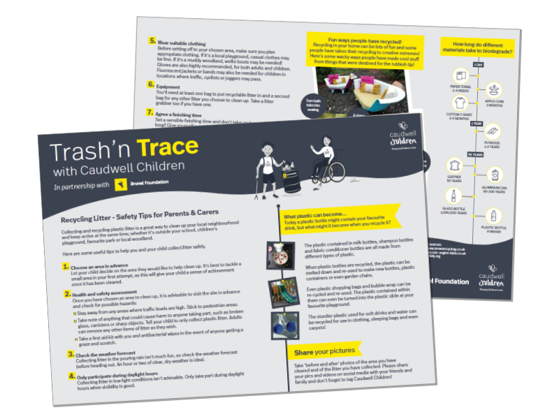 Trash n Trace guide - Landing Page