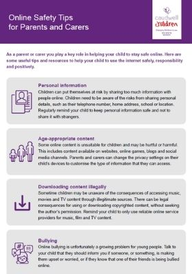 Safety Tips for Parents and Carers - 400x280px