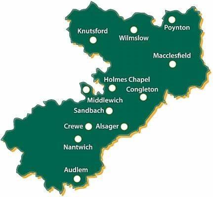 Cheshire East Short Breaks Map