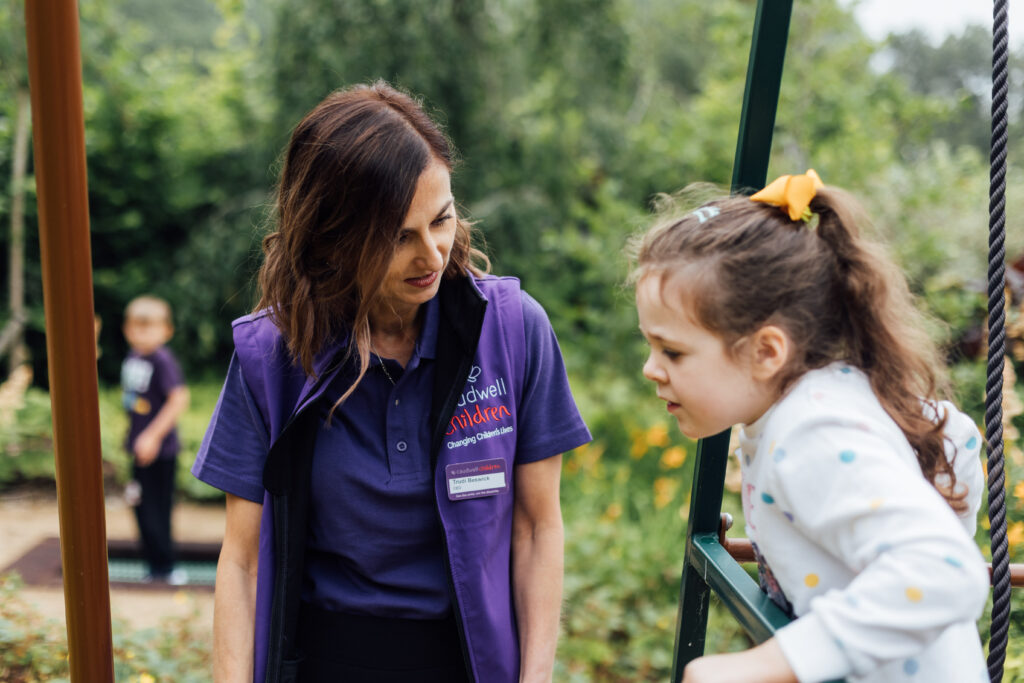 Caudwell Children CEO Trudi Beswick at the Caudwell International Children's Centre in Staffordshire, the UK's first autism-friendly, purpose built centre.